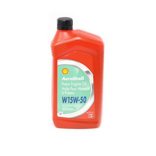 Aeroshell - 15W50 Multigrade Piston Aircraft Oil | Quart