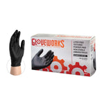 AMMEX - 5 Mil Black Nitrile Gloves, 100/Box