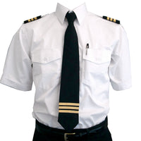 Aero Phoenix - Epaulet Tie, 3 Stripe Gold Met. On Black