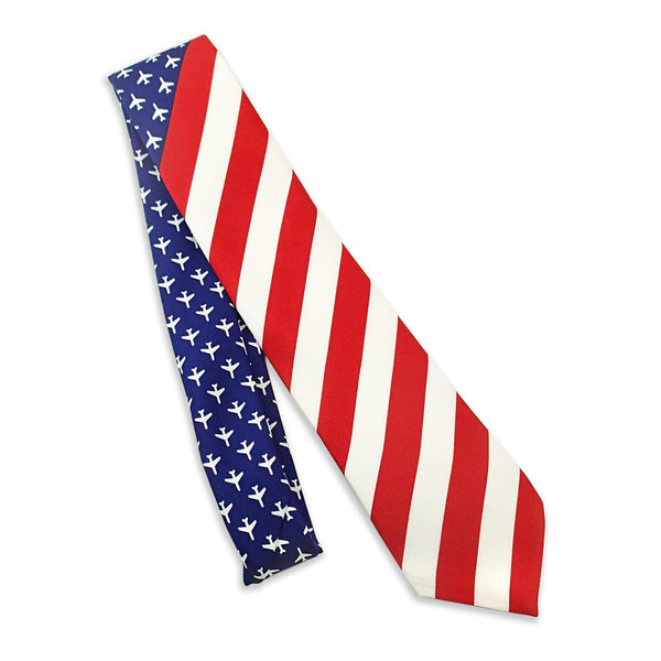 United States Of Aviation Flag Men's Tie