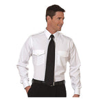 Van Heusen - Mens Commander Pilot Shirt, Long Sleeve