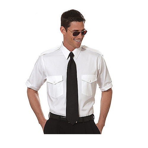 Van Heusen - Mens Commander Shirt, Short Sleeve, TALL