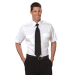 Van Heusen - 100% Cotton Pilot Shirt, Short Sleeve, White