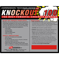 Knockout 100 Heavy-Duty Concrete Remover Concentrate, 30gal | 22802