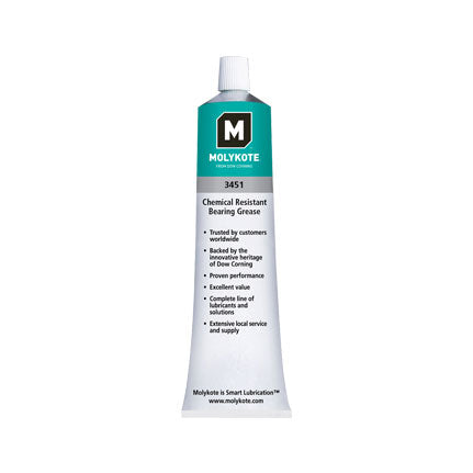Dow Corning Molykote 3451 Chemical Resistant Bearing Grease 3oz