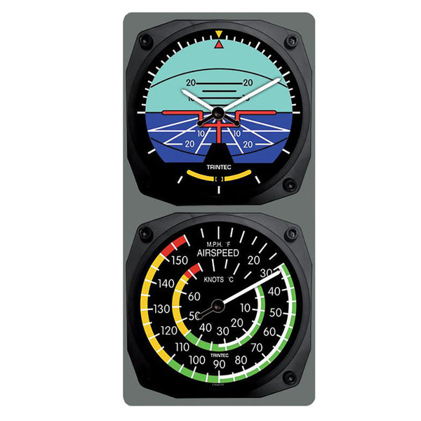 Trintec - Classic Artificial Horizon/Airspeed Clock & Thermometer Set | 9063/9061