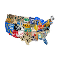 The Vintage Sign Company - 25 x 16 USA License Plate Map | PS044