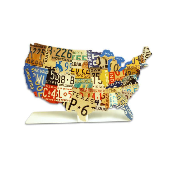 The Vintage Sign Company - 7 x 5 USA License Plate Map | PTST011