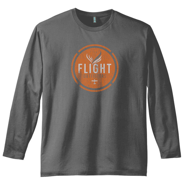 Flight Outfitters - Retro Logo Long Sleeve T-Shirt | FO-T501-CH