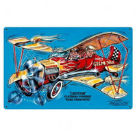 Vintage Signs - Gilmore Airplane 36in x 24in | BMC012