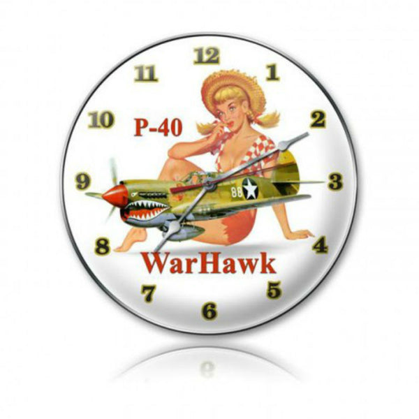 Vintage Signs - P-40 Warhawk 14in x 14in | C018