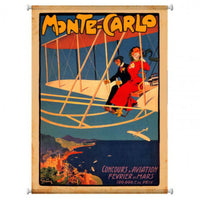 Vintage Signs - Monte Carlo Aviation 25in x 38in | CNV002