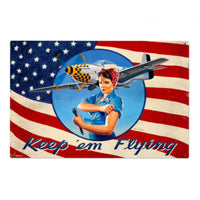 Vintage Signs - Keep Em Flying 36in x 24in | HB034