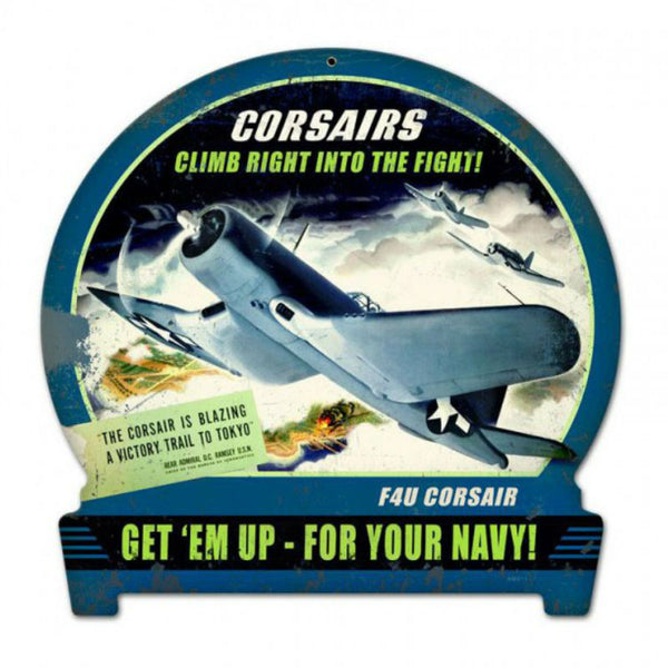 Vintage Signs - Corsairs Climb 15in x 16in | HM011