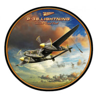 Vintage Signs - P-38 Lightning 28in x 28in | LG191
