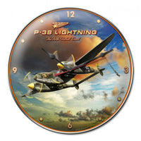 Vintage Signs - P-38 Lightning 14in x 14in | LG192