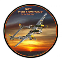 Vintage Signs - P-38 Lightning 28in x 28in | LG200