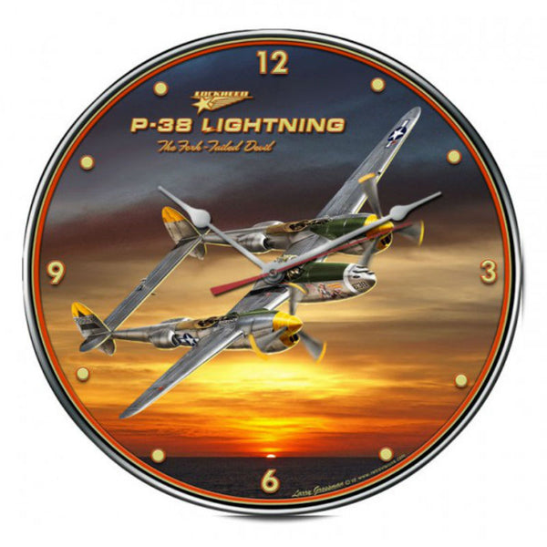 Vintage Signs - P-38 Lightning 14in x 14in | LG201