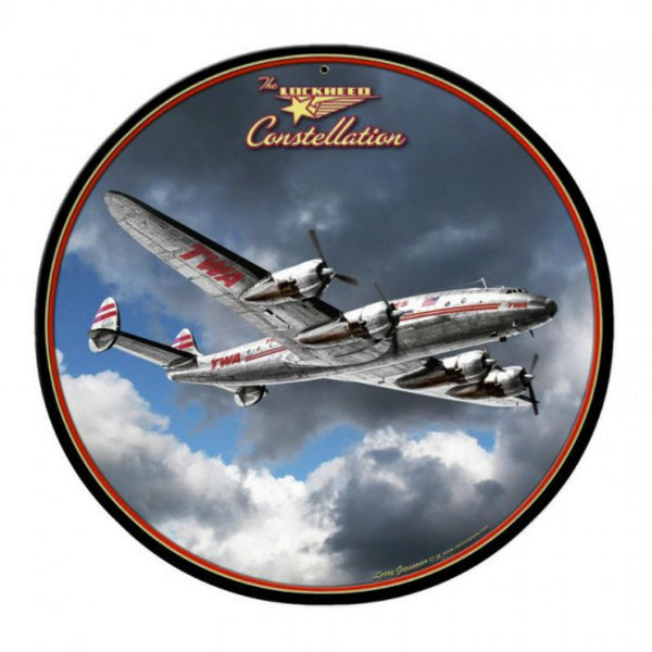 Vintage Signs - Lockheed Constellation 28in x 28in | LG616