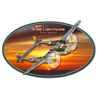 Vintage Signs - 3-D P-38 Lightning 18in x 13in | LG650