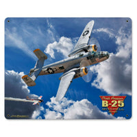Vintage Signs - B-25 Mitchell Bomber 15in x 12in | LG686