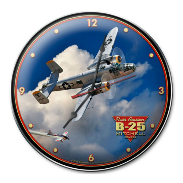 Vintage Signs - B-25 MITCHELL BOMBER 14in x 14in | LG711
