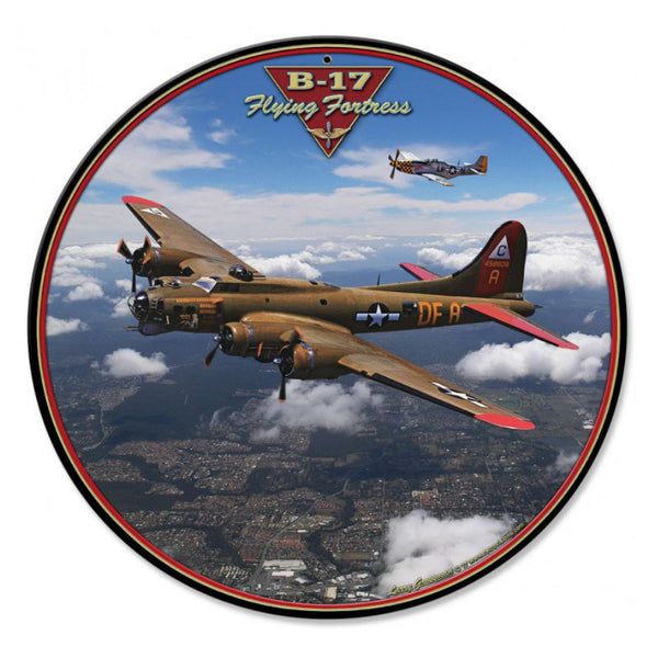 Vintage Signs - B-17 Flying Fortress 14in x 14in | LG801