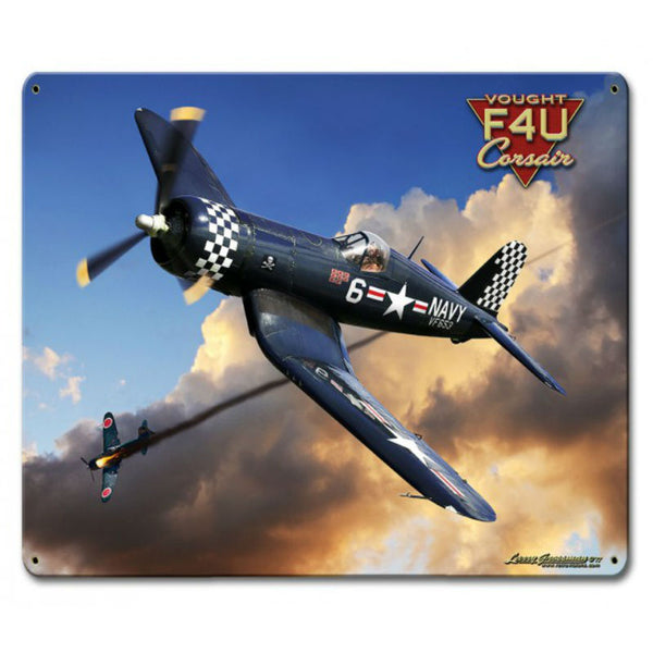 Vintage Signs - Corsair F4U 12in x 15in | LG888