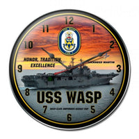 Vintage Signs - USS Wasp Clock 14in x 14in | LM018