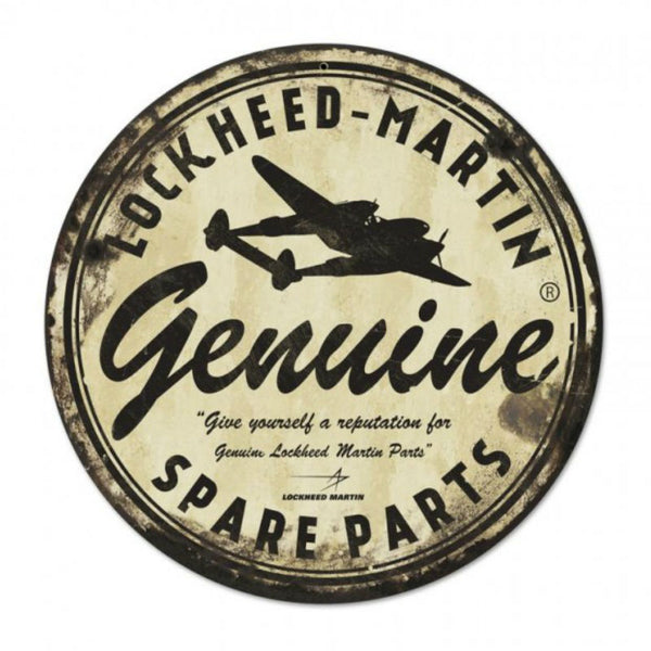 Vintage Signs - Genuine Lockheed Martin Spare Parts 14in x 14in | LM021