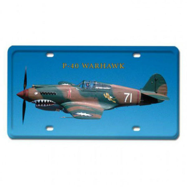 Vintage Signs - P-40 Warhawk 6in x 12in | LP033