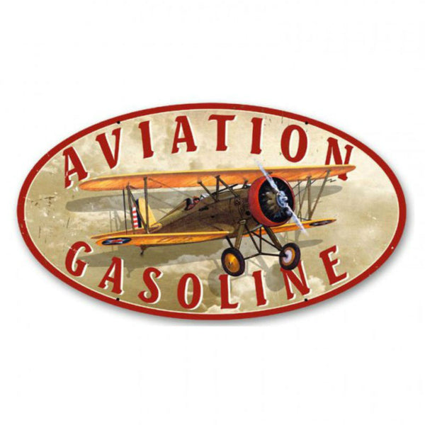 Vintage Signs - Aviation Gasoline 14in x 24in | OS001