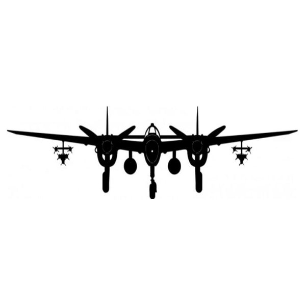 Vintage Signs - P-38 Lightning Plane 42in x 10in | PS382