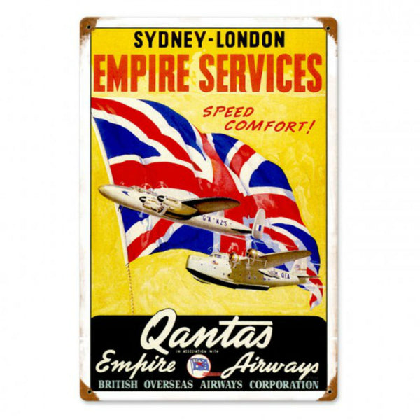 Vintage Signs - Qantas Airlines 12in x 18in | PTS232