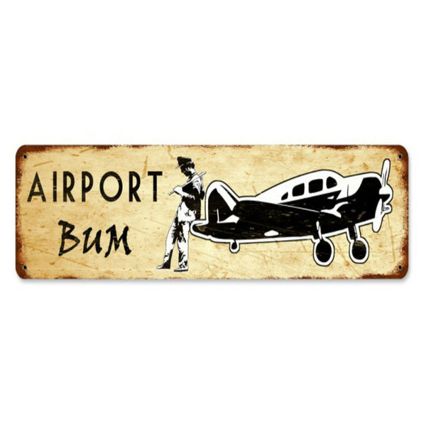 Vintage Signs - Airport Bum 20in x 5in | PTS670