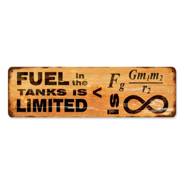 Vintage Signs - Fuel vs Gravity 20in x 5in | PTS675