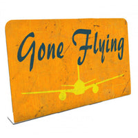 Vintage Signs - Gone Flying 6in x 4in | PTST036