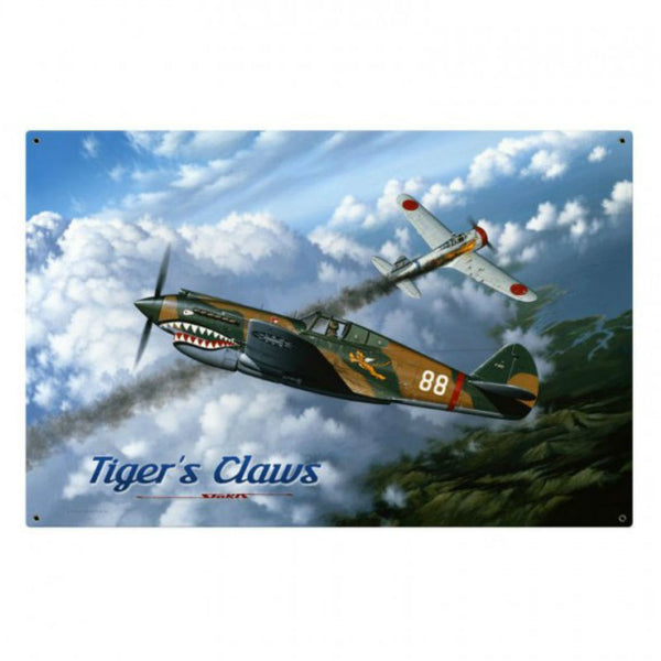 Vintage Signs - Tigers Claw 36in x 24in | STK070
