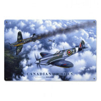 Vintage Signs - Canadian Heroes 12in x 18in | STK099