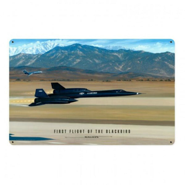 Vintage Signs - Flight Of The Blackbird 12in x 18in | STK103