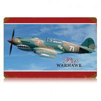 Vintage Signs - P-40 Warhawk 18in x 12in | V169