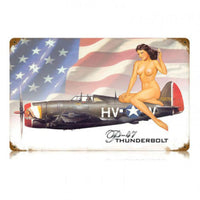 Vintage Signs - P-47 Nude 18in x 12in | V384