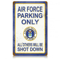 Vintage Signs - Air Force Parking 18in x 12in | V561