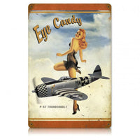 Vintage Signs - P-47 Eye Candy 18in x 12in | V630