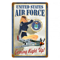 Vintage Signs - Us Air Force Girl 18in x 12in | V925