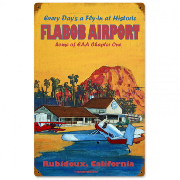 Vintage Signs - Flabob Airport 12in x 18in | VG008