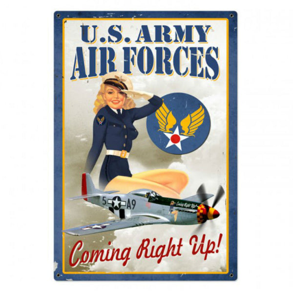 Vintage Signs - Air Force Pinup 24in x 36in | VXL004