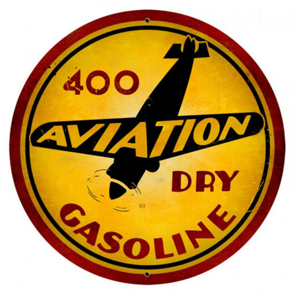 Vintage Signs - Aviation Gasoline 28in x 28in | VXL122