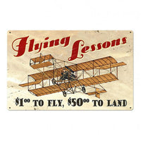 Vintage Signs - Flying Lessons 36in x 24in | VXL186