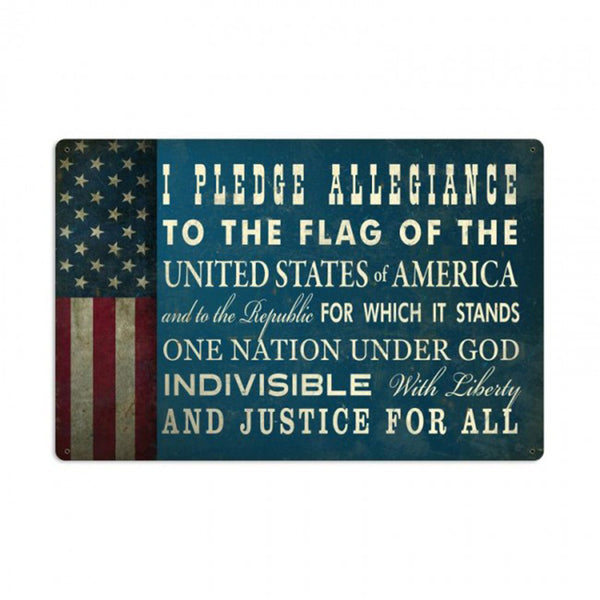 Vintage Signs - Pledge of Allegiance Sign | PTS488